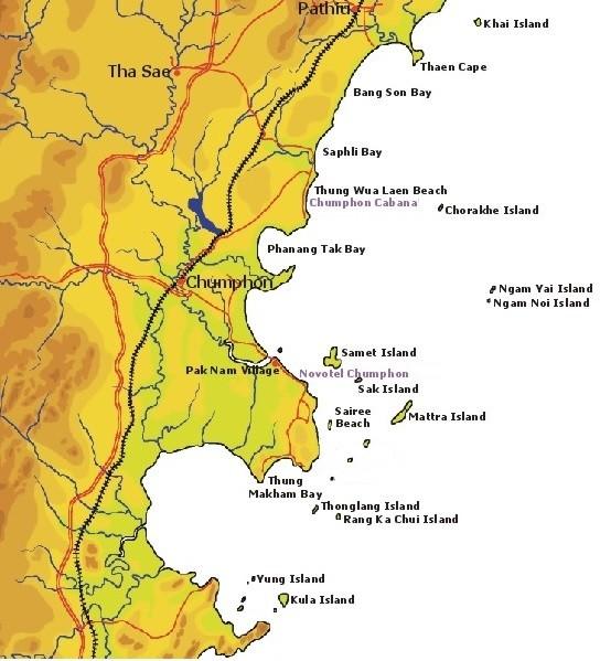 Chumphon Karte