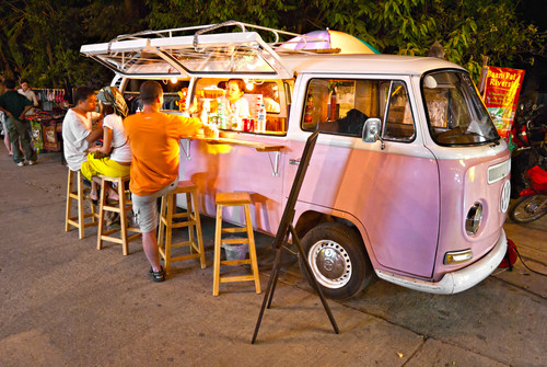 Pink Bus Bar Thailand