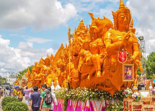 Umzugswagen Ubon Ratchathani Kerzenfestival