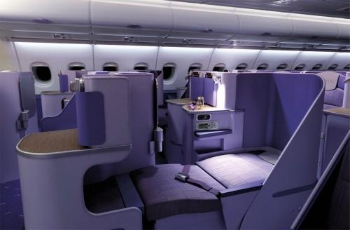 Business (Royal Silk Class) im A380 der Thai Airways