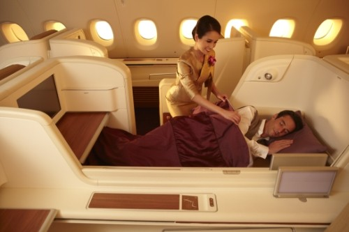 Firstclass (Royal First) im A380 der Thai Airways international