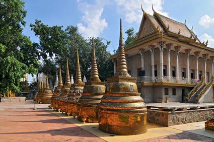 goldene Stupa in  Phnom Penh