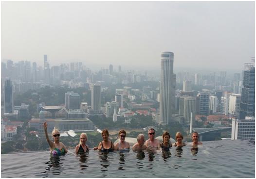 Singapur, mit Blick auf das Marine Bay Sanda Hotel