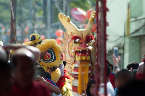 chinesische Neujahrsfest Umzug