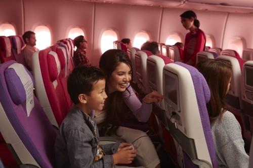 Economy im A380 der Thai Airways