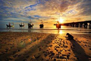 Sonnenuntergang Hua Hin beach