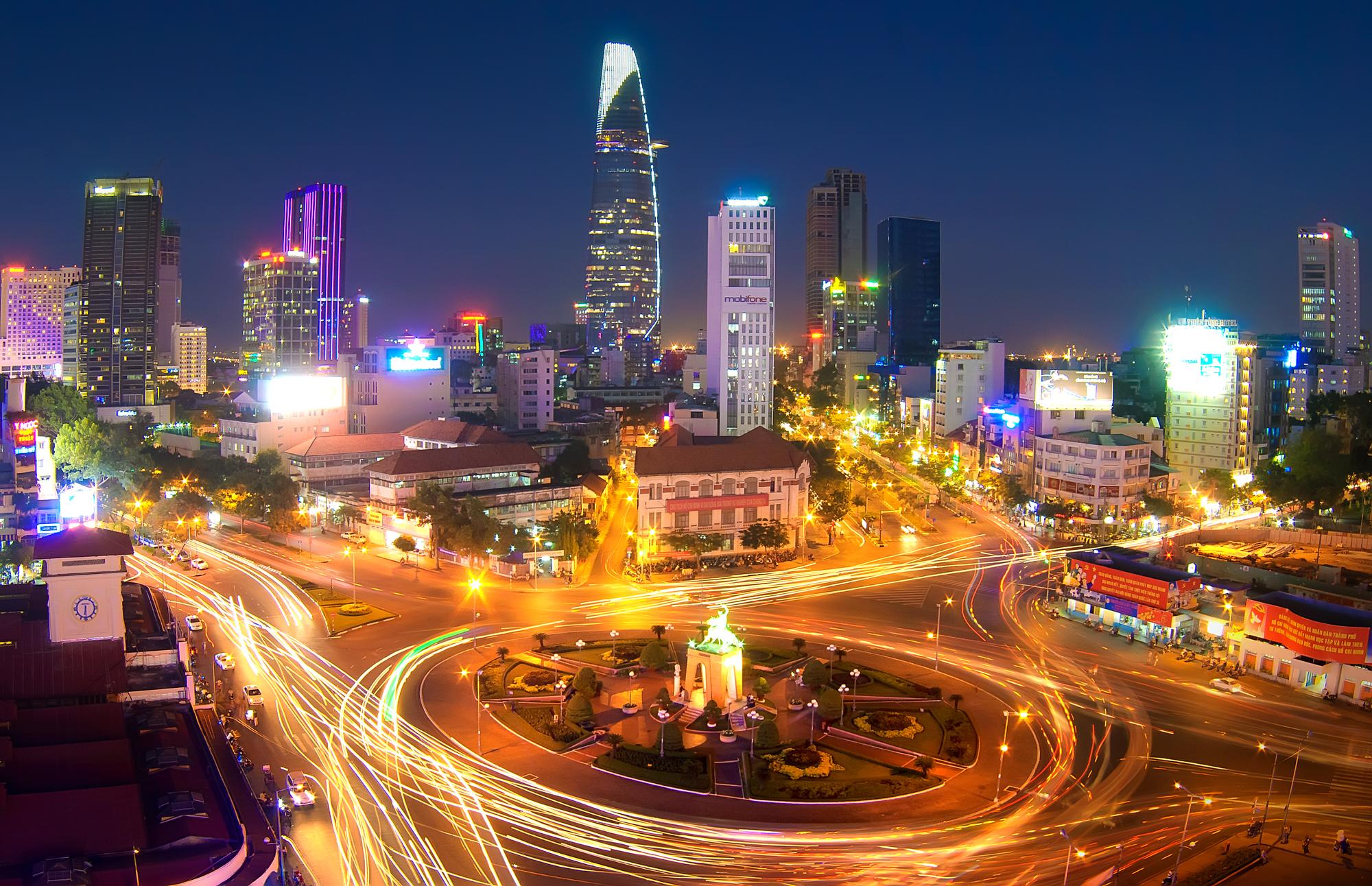 Ho Chi Minh City bei Nacht