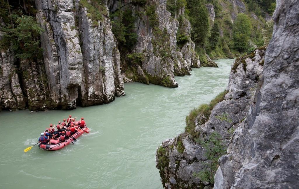 Raftingtour auf der Tiroler Ache
