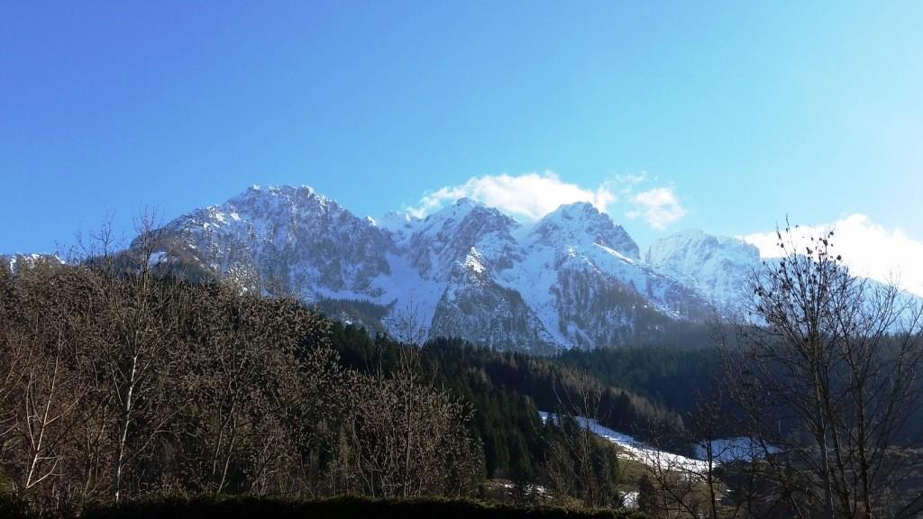 Ausblick auf das schöne Kaisergebirge