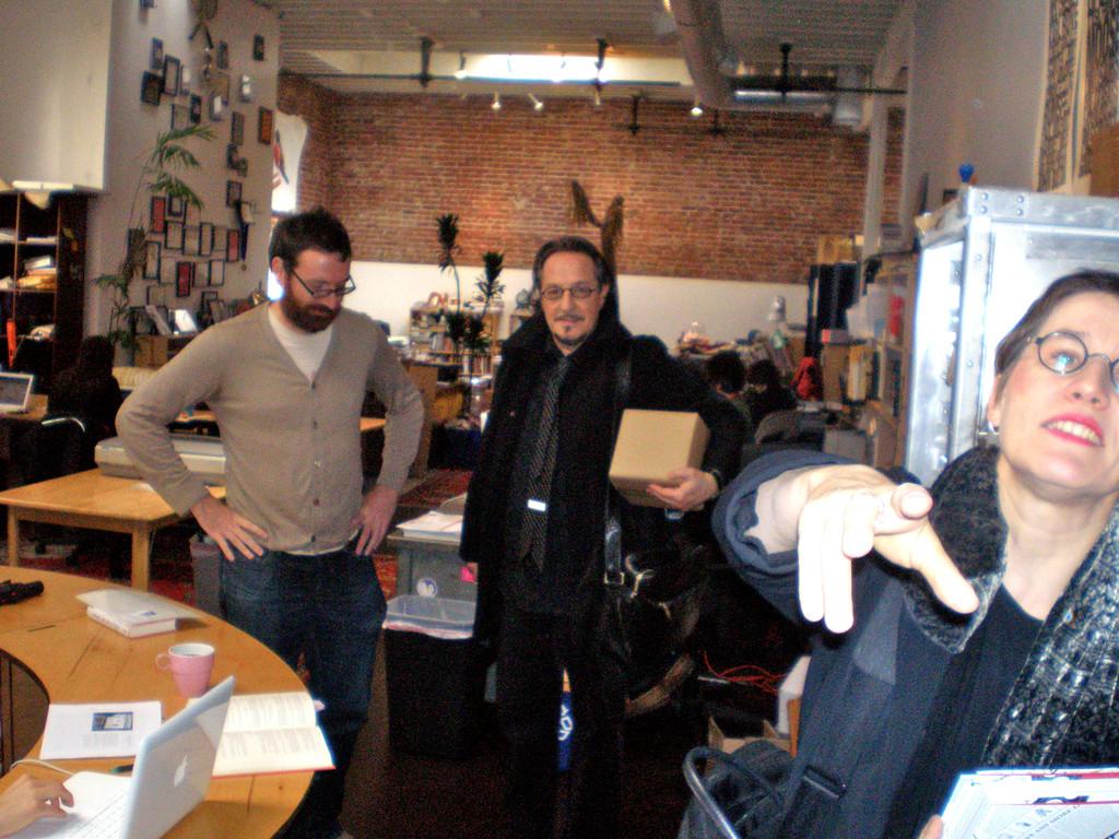 At McSweeneys with Jordan Bass, Heinz D. Heisl, Magdalena Kauz