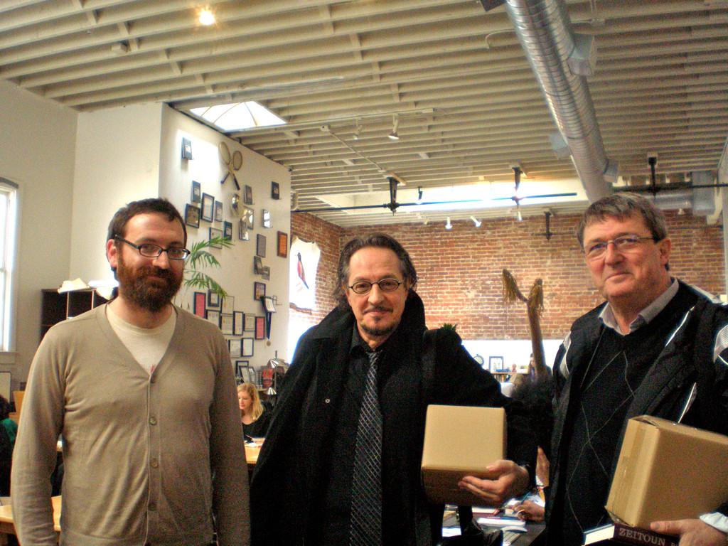 At McSweeneys with Jordan Bass, Heinz D. Heisl, Elias Schneitter
