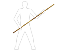 BO O PALO LARGO  Un bō (棒? «bastón») es un arma en forma de vara alargada o pértiga, generalmente hecha de madera (roble, bambú, etc).