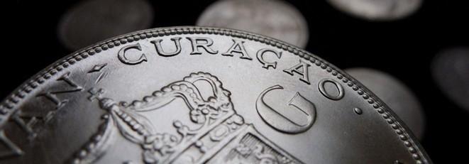 Ein 2-1/2-Gulden-Stück aus Curacao von 1944