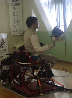 実践練習後、他の選手と談笑する笹島選手