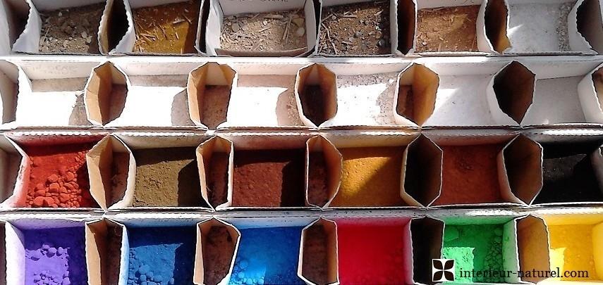 pigments et chaux