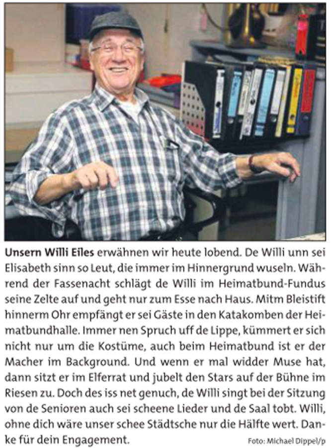 Dahinter geblickt bei Willi Eiles