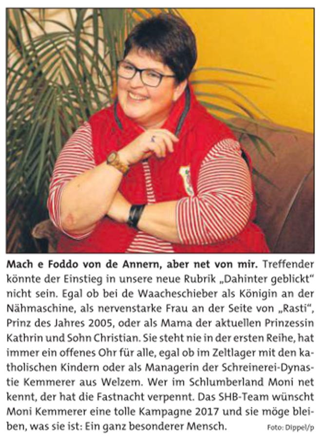 Dahinter geblickt bei Monika Kemmerer