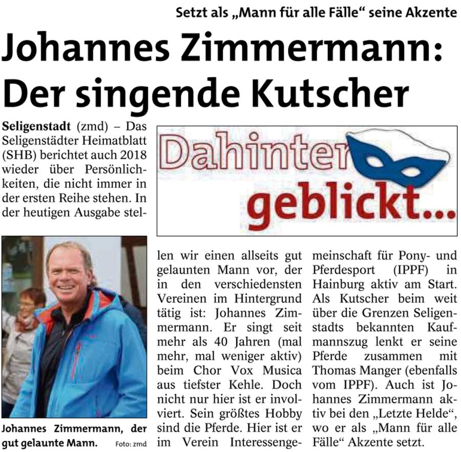 Dahinter geblickt bei Johannes Zimmermann