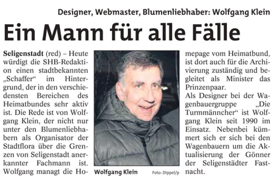 Dahinter geblickt bei Wolfgang Klein