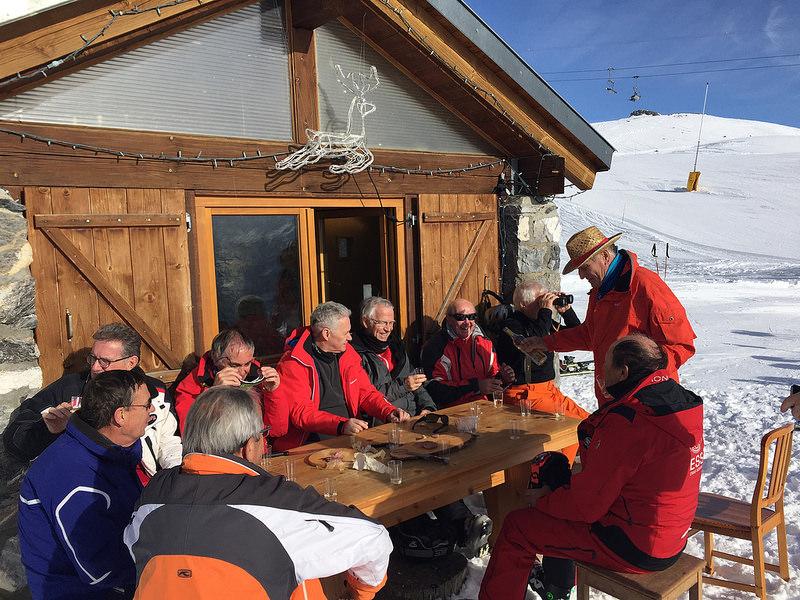 Sortie de ski des Seniors du Golf-Club Crans-sur-Sierre en janvier 2017