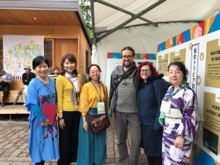 English information desk of the Tanabata Denshokan museum at the Sendai Tanabata Festival 2018