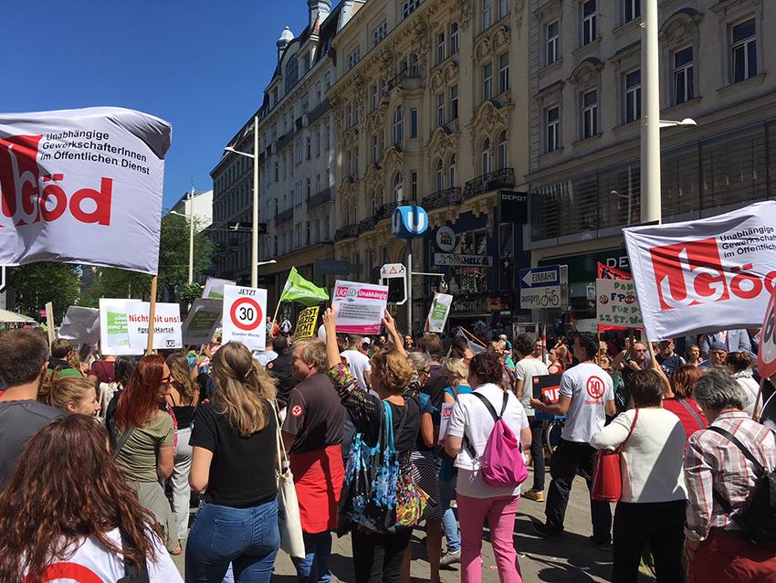 Demo 30.6. Wien Foto: Michaela Göltl