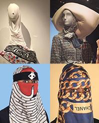 Wesaam Al-Badry stellt die interessante und berechtigte Frage, ob Europa Kopfbedeckungen von Guggi oder Hermes akzeptiert hätte?  Bild: https://www.instagram.com/explore/tags/contemporarymuslimfashions/