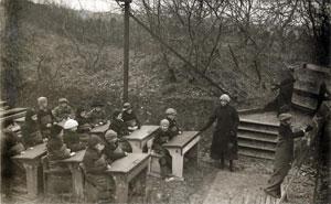 Bild 3: Freiluftunterricht in den Niederlanden 1918