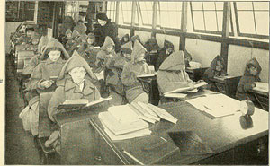 Bild 2: Schüler*innen der Waldschule New York in Winter-Schuluniform 1911