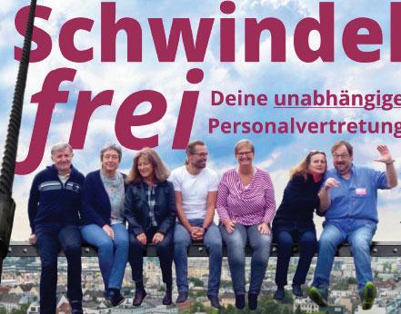 Von links nach rechts: Gary Fuchsbauer, Katharina Bachmann, Gabriele Atteneder, Hannes Grünbichler, Eliabeth Hasiweder, Brigitta Danner, Peter Steiner