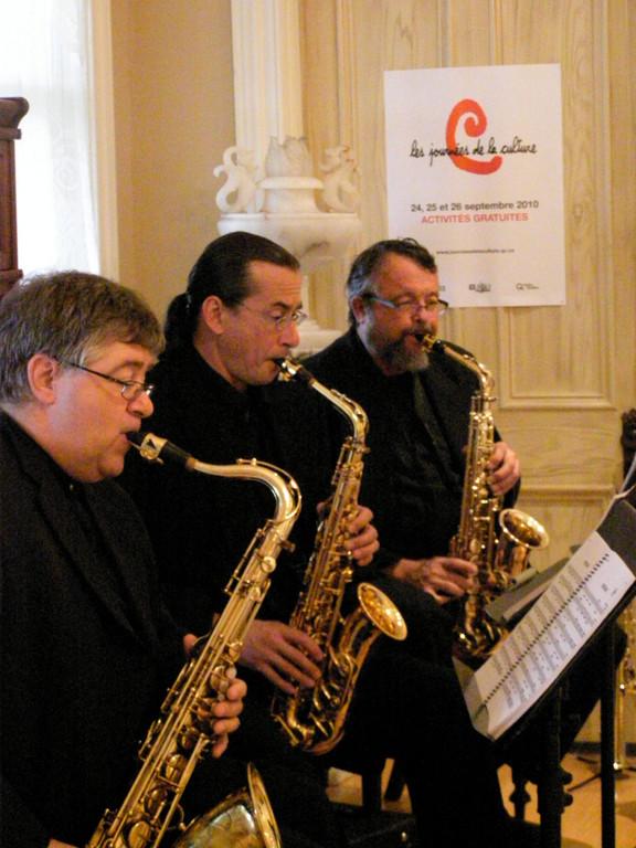 Le quatuor de Molian à la galerie d'art du presbytère de Champlain, en 2010.