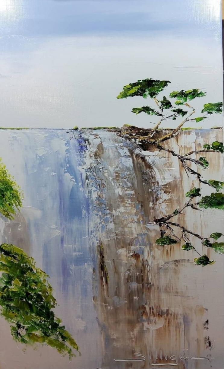 alain-belleguie-sérénité III Huile/toile 55cm x 33cm