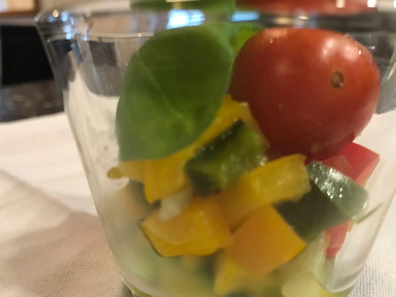 Mediterranes Gemüse im Glas