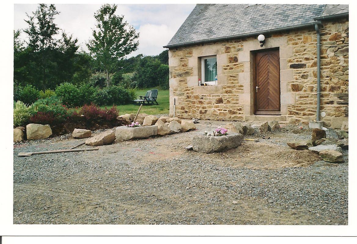 Aménagement de l'entrée ... en 2004 ...