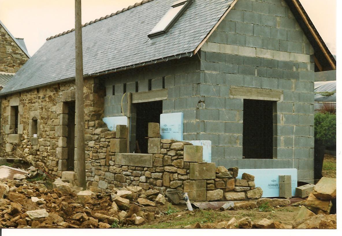 Isolation et doublage en pierres ... de la façade ... 1996