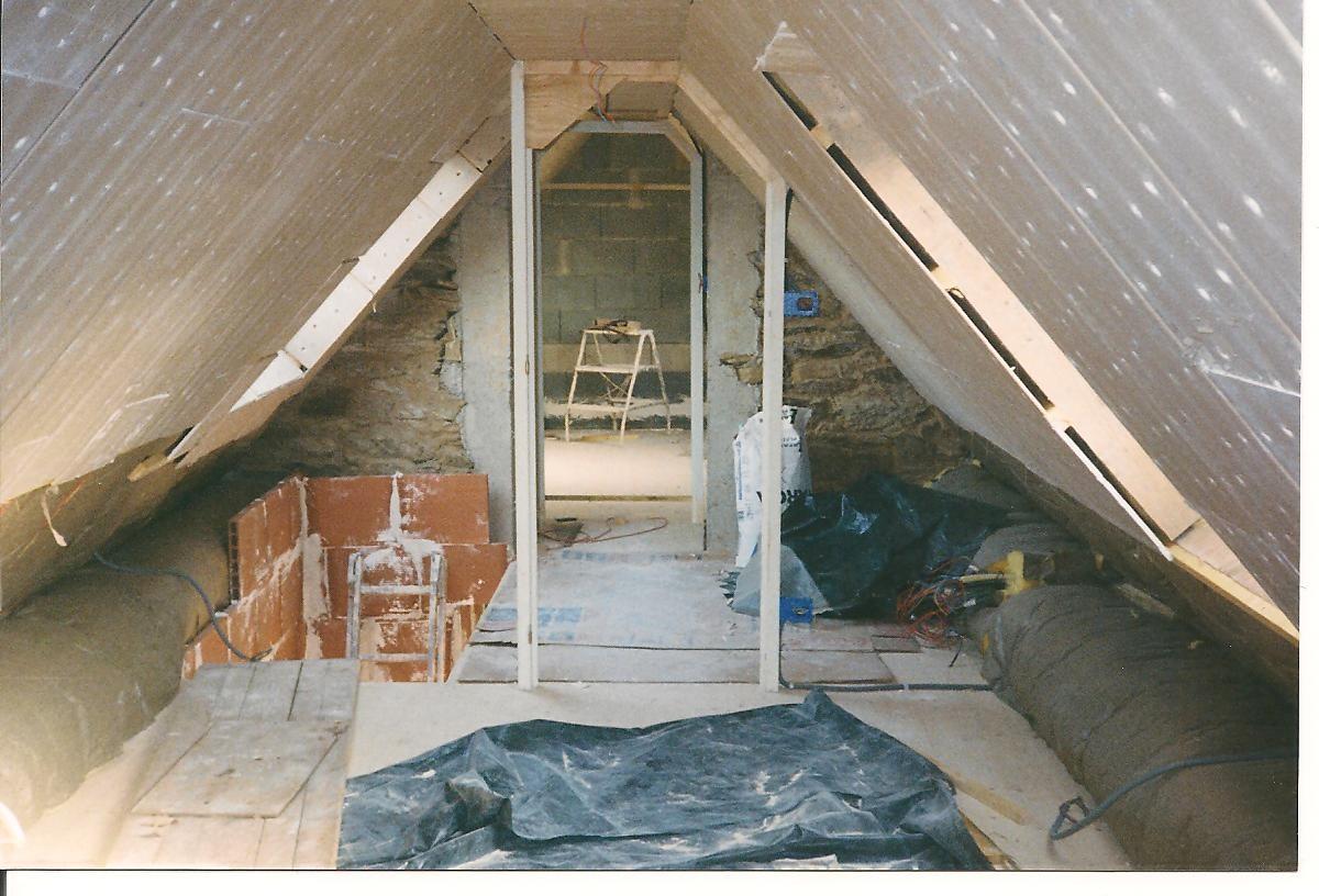 La chambres parents ... isolation et plâtre ... 1999