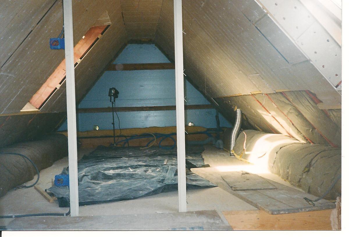 La chambre enfants ... isolation et plâtre ... 1999