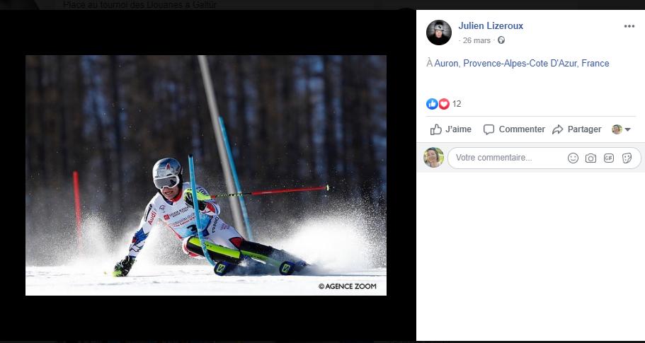 ski - slalom - lizeroux - Facebook - réseaux sociaux