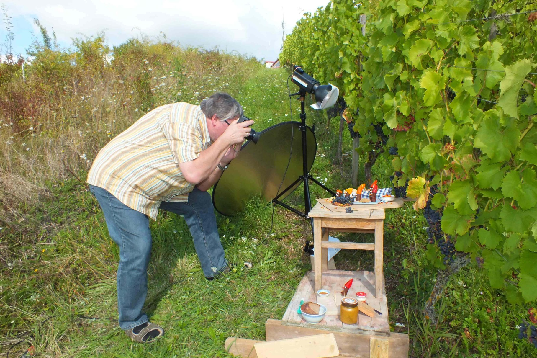 Fotoshooting im Weinberg