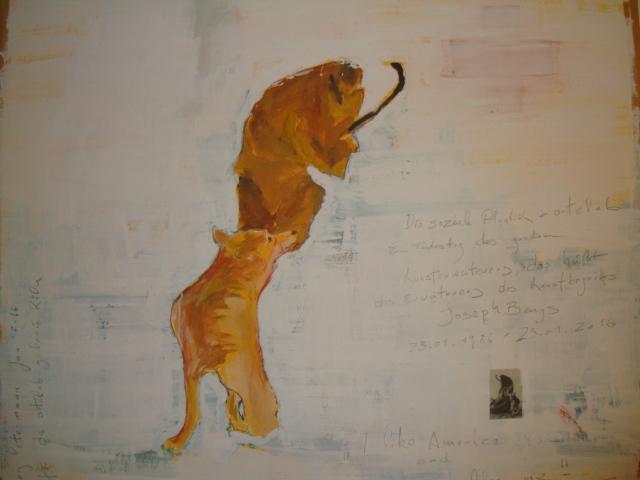 Zum 25 Todestag Joseph Beuys; I like America and Amerika likes me