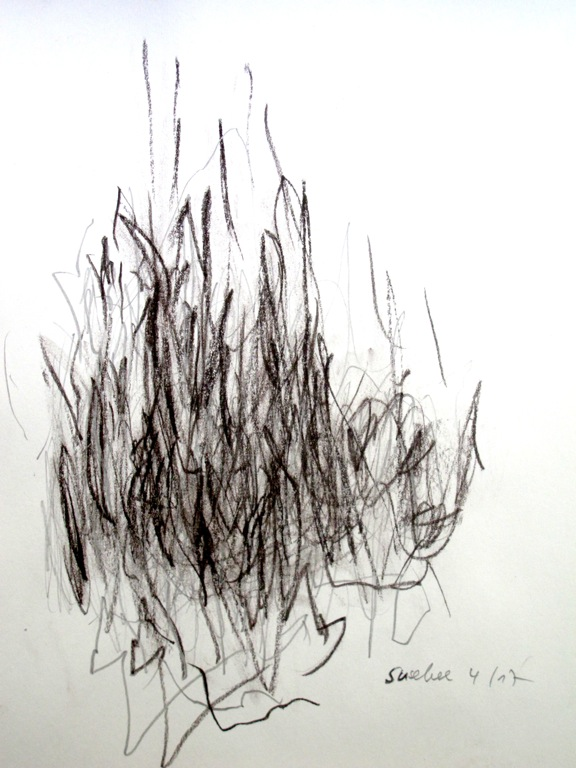 Geste3, Zeichnung, Rötelkreide   2017