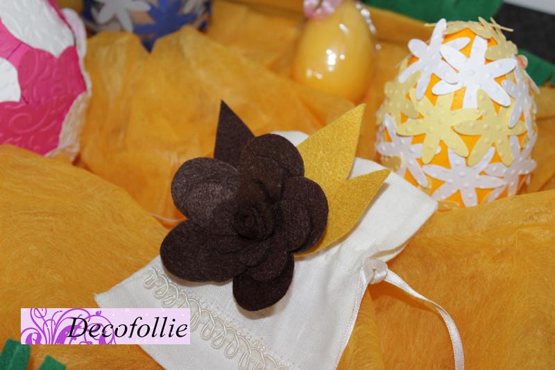 Spilla fiore in pannolenci Art.307E