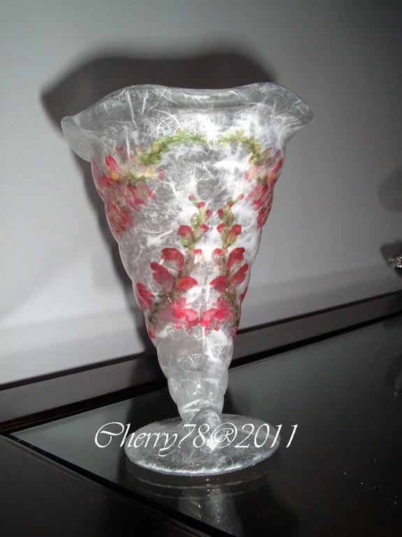 Cornucopia di vetro, carta di riso e cristal duck finale