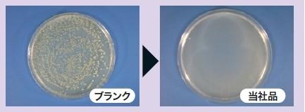 黄色ブドウ球菌の除菌試験結果