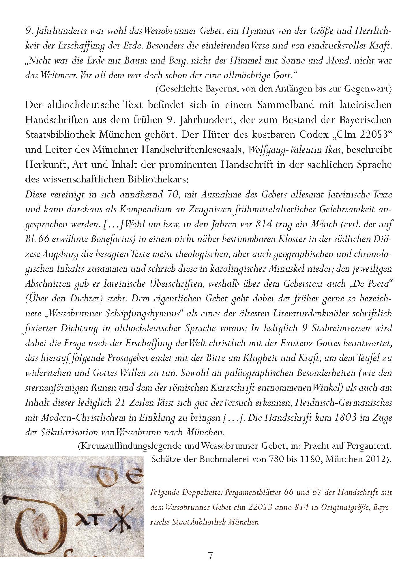 Wessobrunner Gebet - Booklet Seite 7
