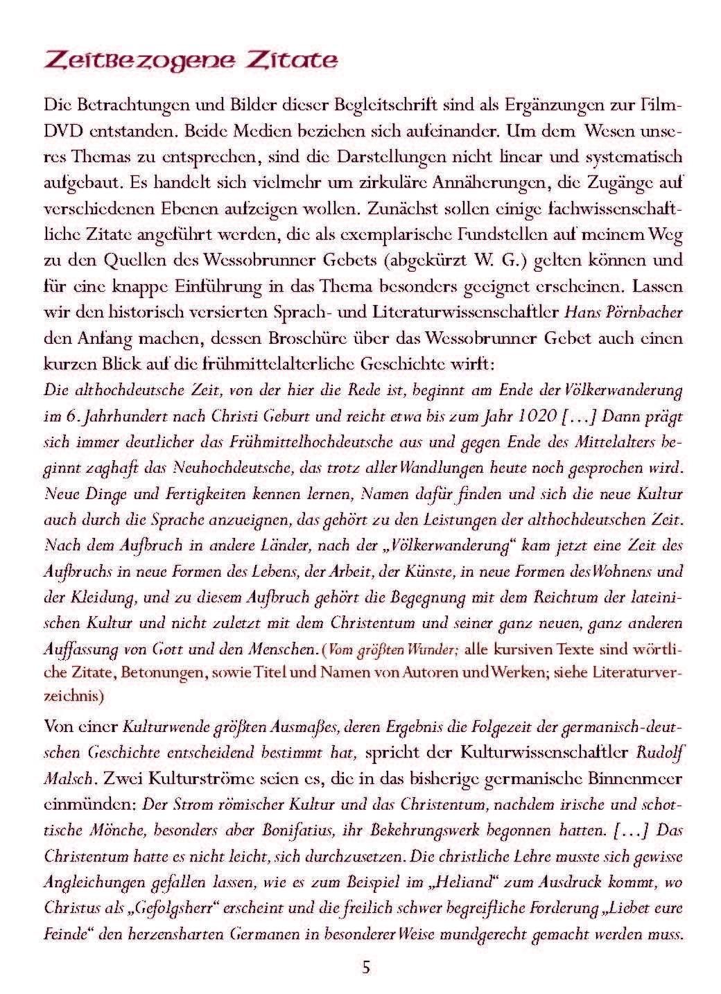 Wessobrunner Gebet - Booklet Seite 5