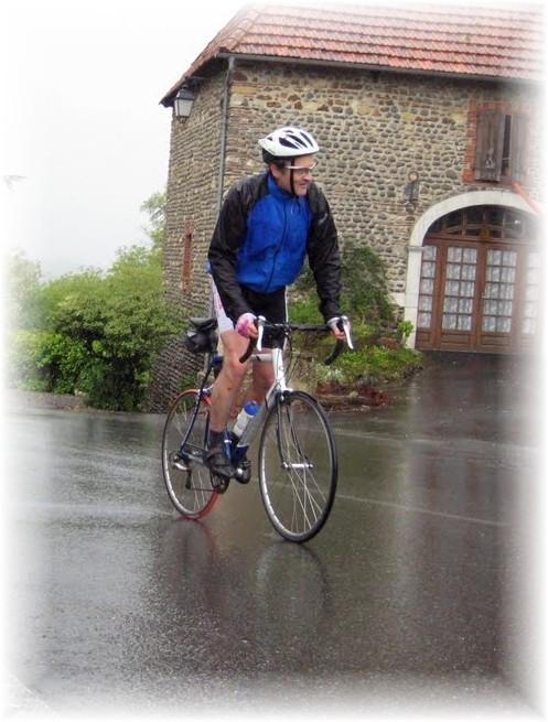 Mathieu Mory n'a pas eu peur de la pluie...BRAVO !