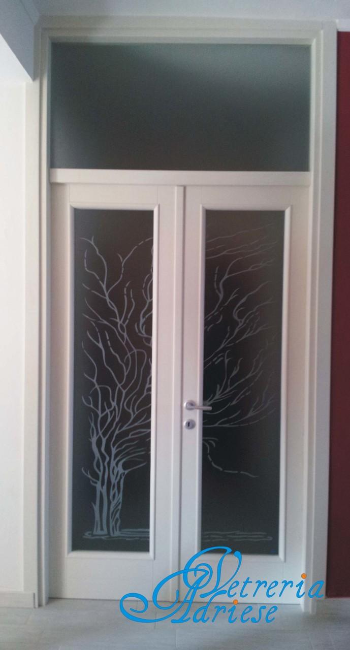 Vetri decorati per porte interne moderne vetro satinato per porte interne con decoro artistico - Vetri decorati moderni ...