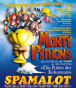 "Plakatmotiv ""Spamalot"" Produktion des Theaters am Hechtplatz, Zürich"