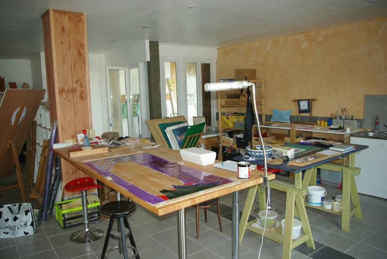 L'atelier: 6 postes de sculpture